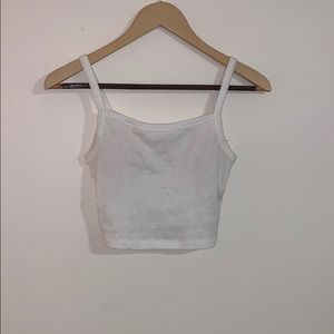 Urban Outfitters: white cropped tank top